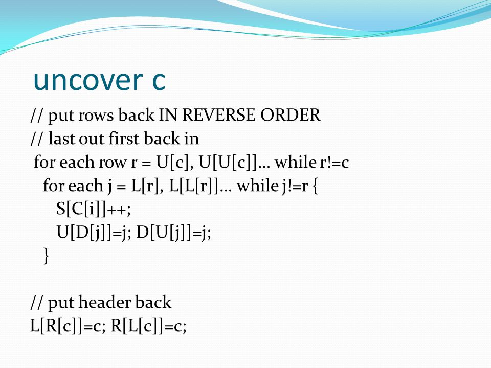 uncover c