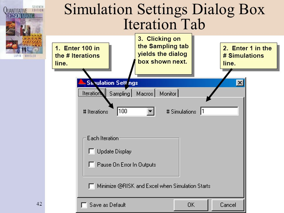 Simulation Settings Dialog Box Iteration Tab