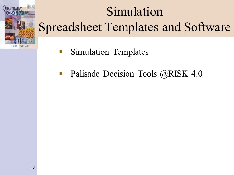Simulation Spreadsheet Templates and Software