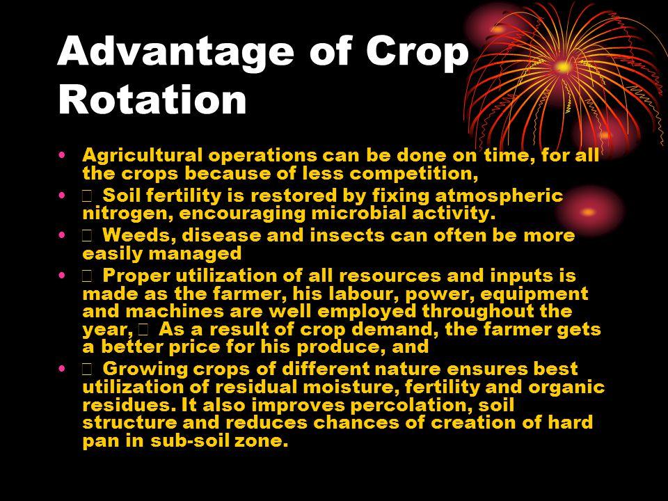 Advantage of Crop Rotation