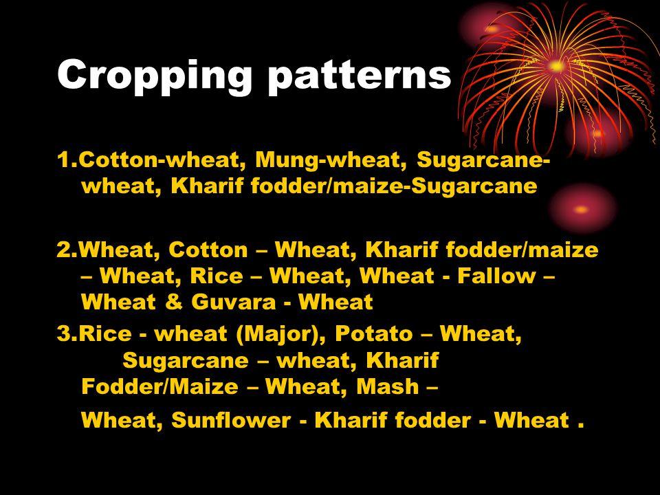 Cropping patterns