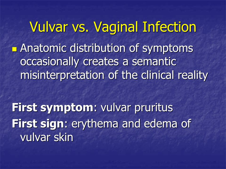 Vulvar vs. Vaginal Infection