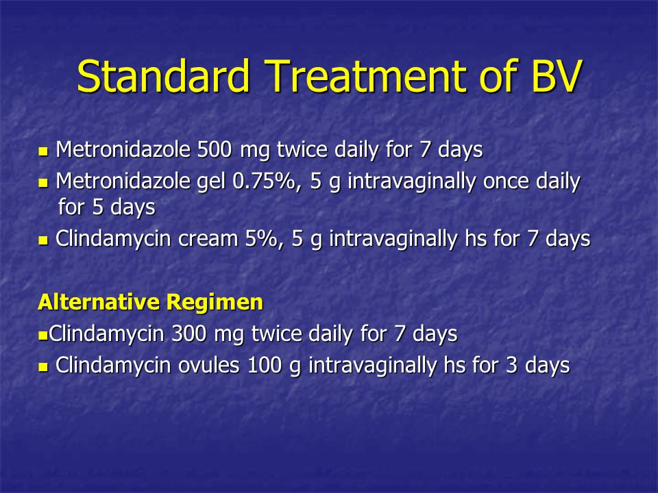 Standard Treatment of BV
