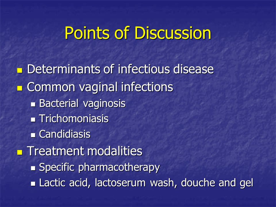 Points of Discussion Determinants of infectious disease