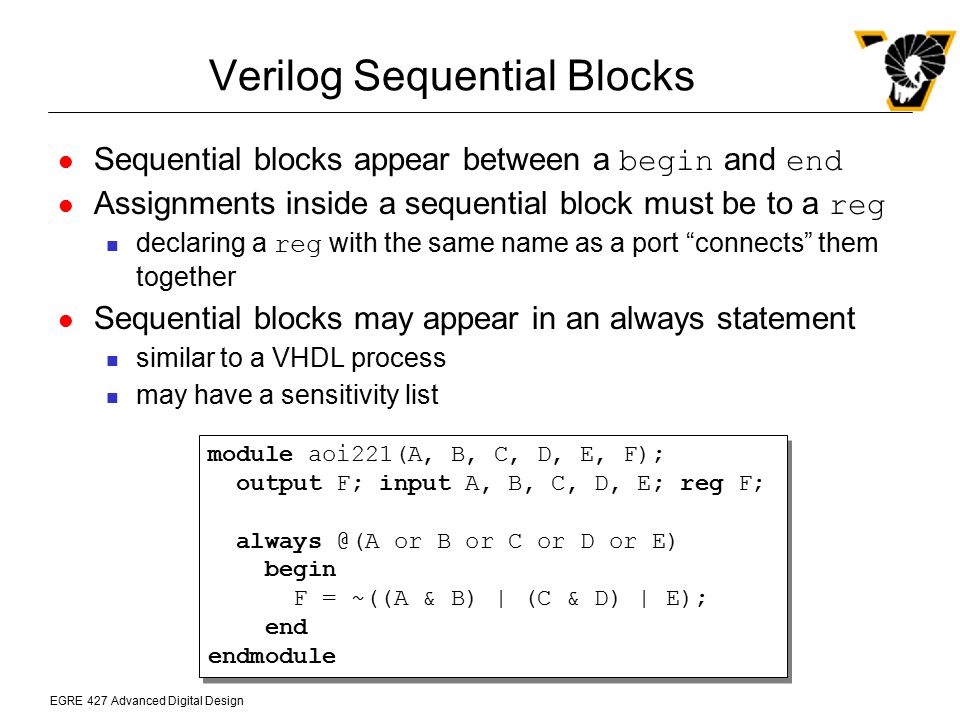 Verilog Sequential Blocks