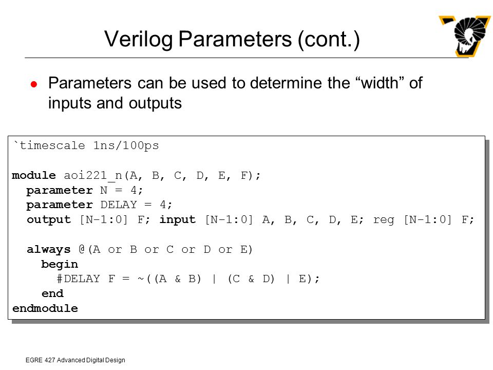 Verilog Parameters (cont.)