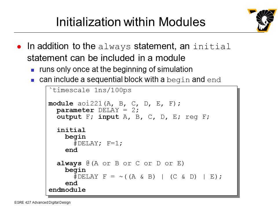 Initialization within Modules