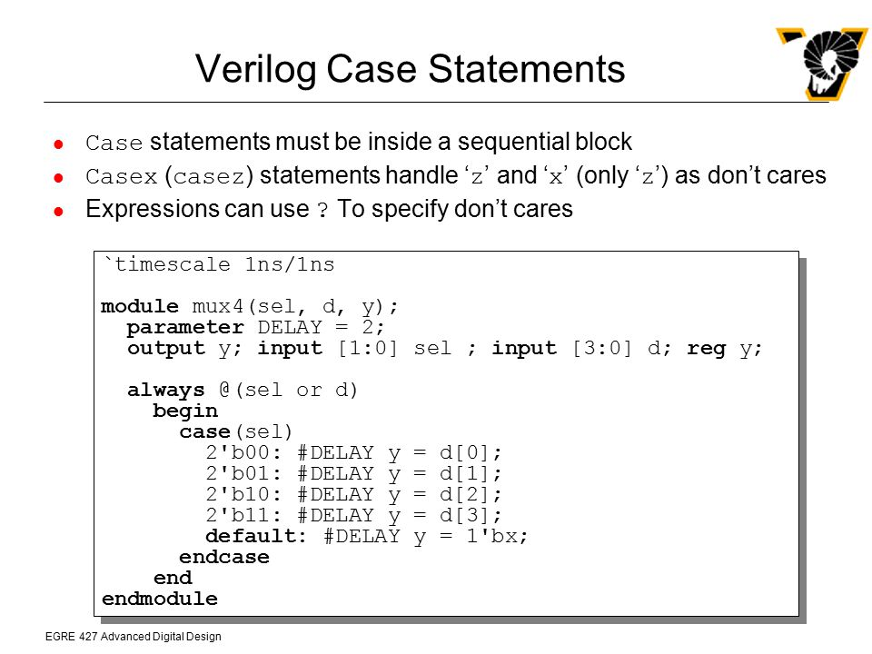 Verilog Case Statements