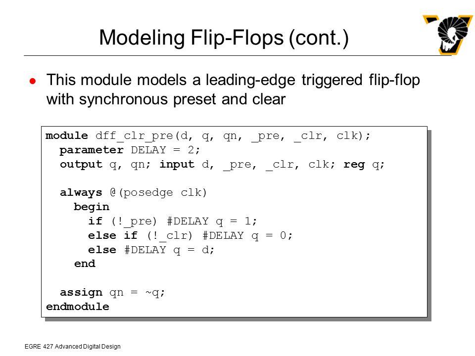 Modeling Flip-Flops (cont.)