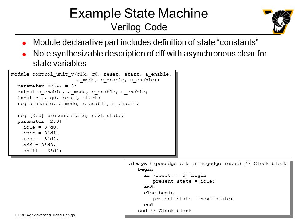 Example State Machine Verilog Code