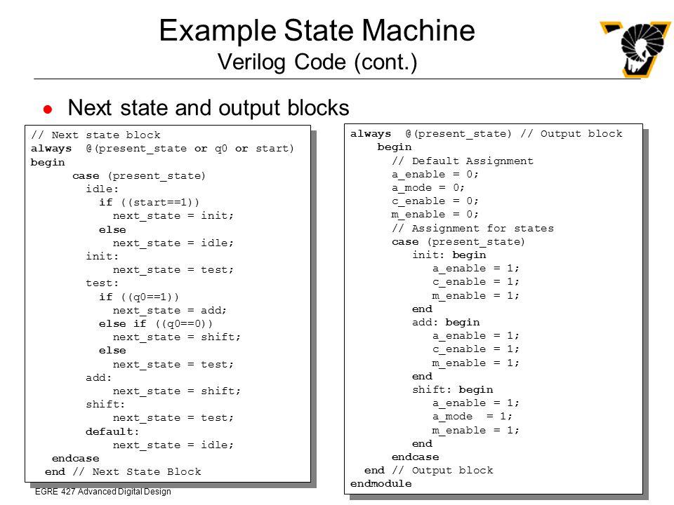 Example State Machine Verilog Code (cont.)