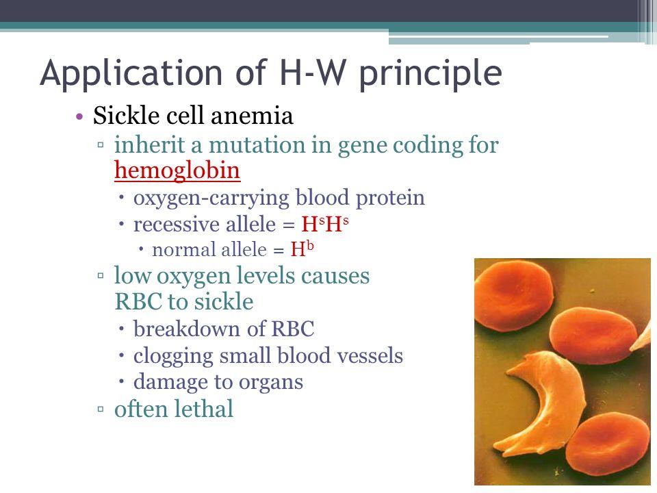 Application of H-W principle