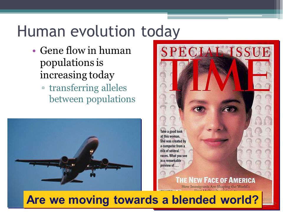 Human evolution today Are we moving towards a blended world