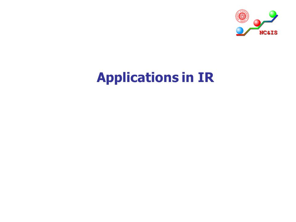 Applications in IR