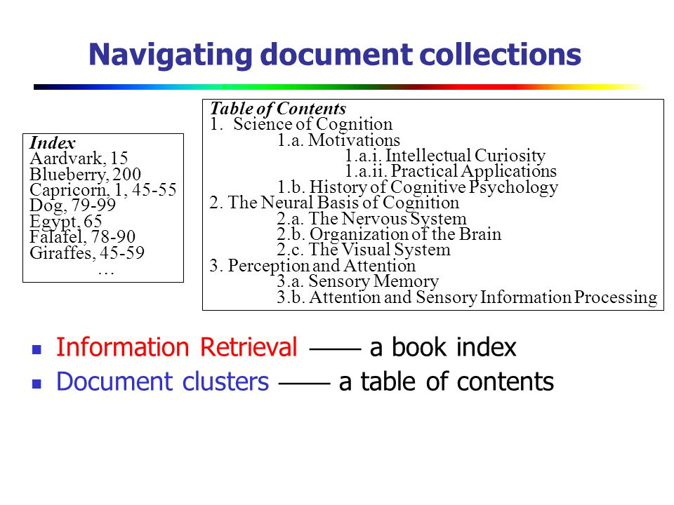 Navigating document collections
