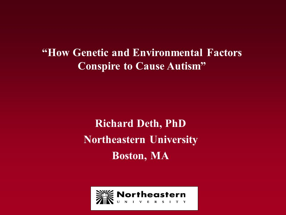 How Genetic and Environmental Factors Conspire to Cause Autism