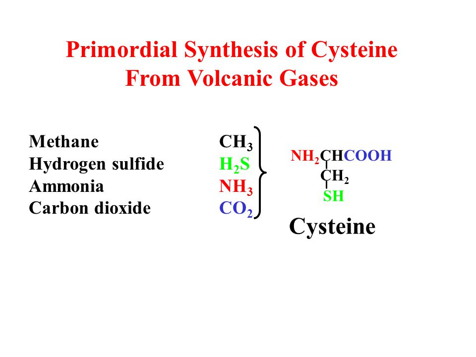 Primordial Synthesis of Cysteine