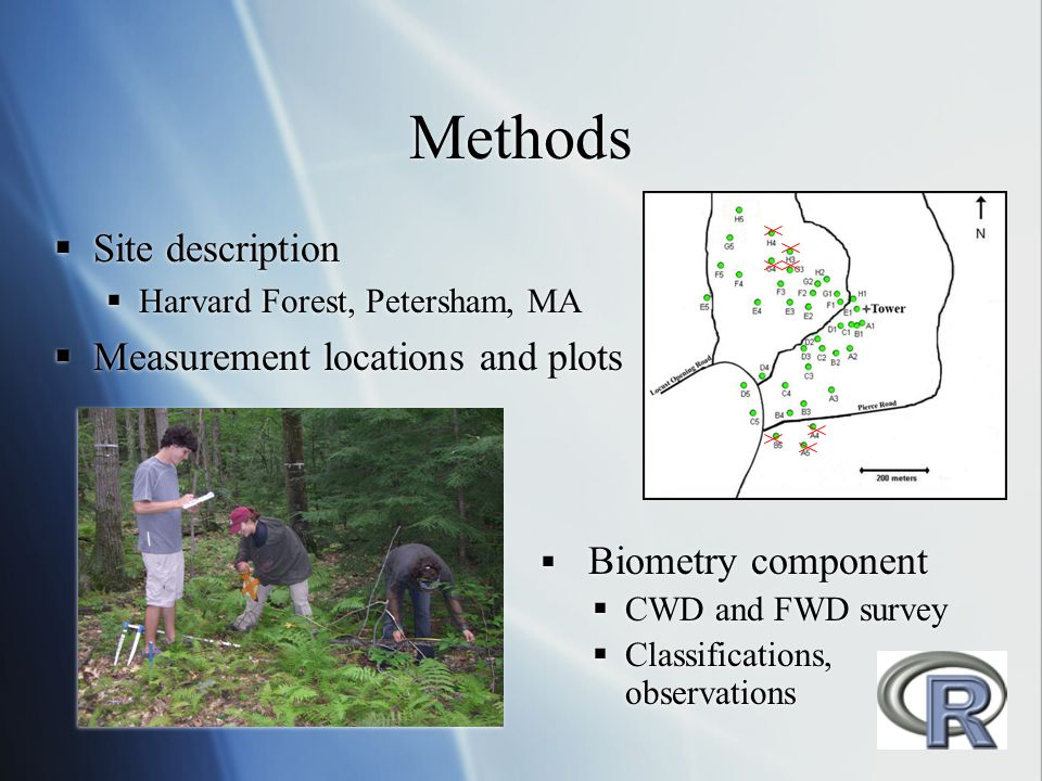 Methods Site description Measurement locations and plots