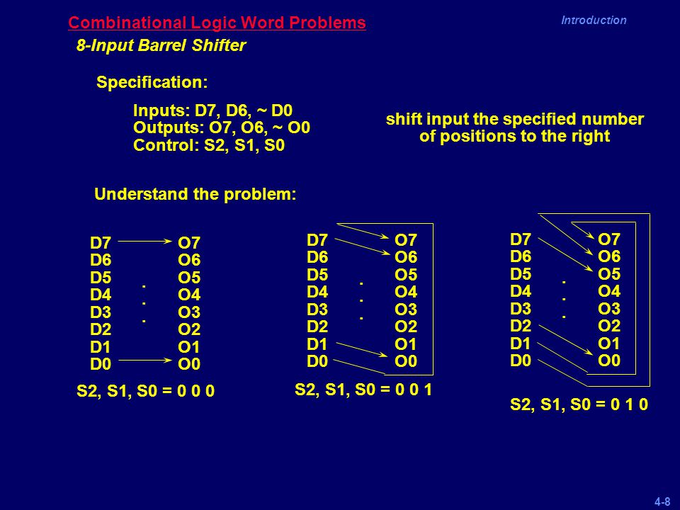 Combinational Logic Word Problems