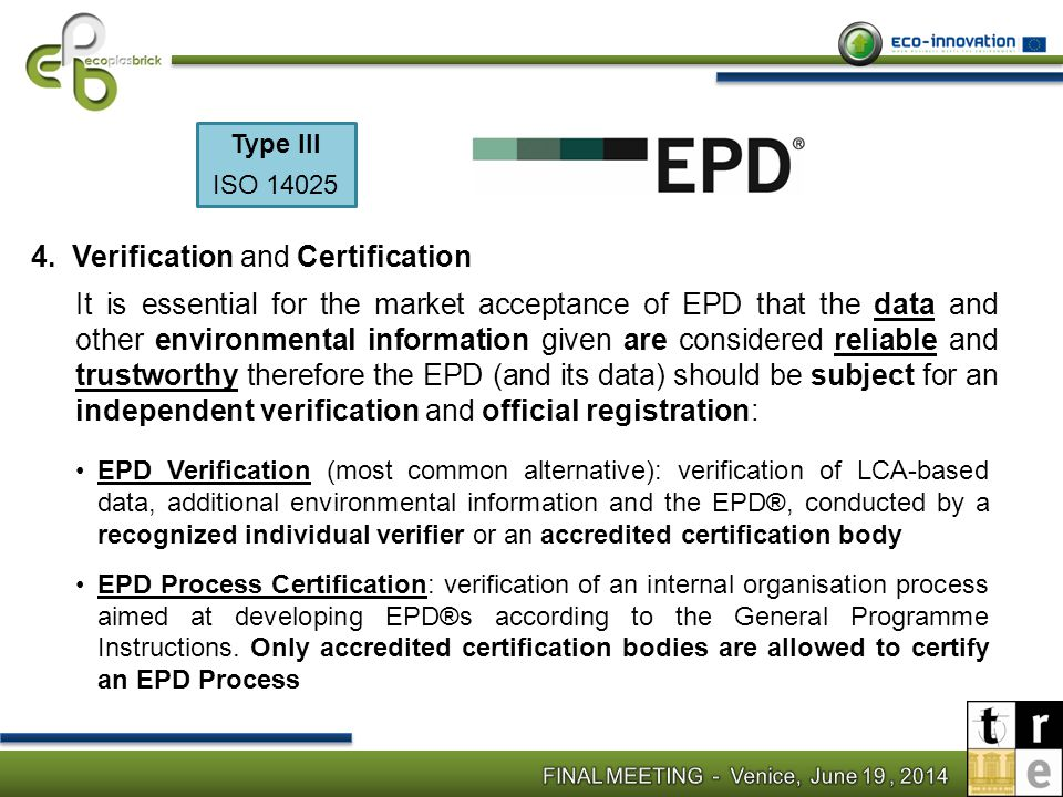Verification and Certification
