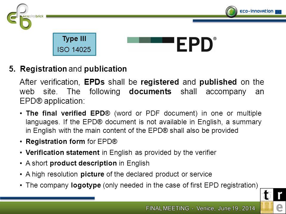 Registration and publication