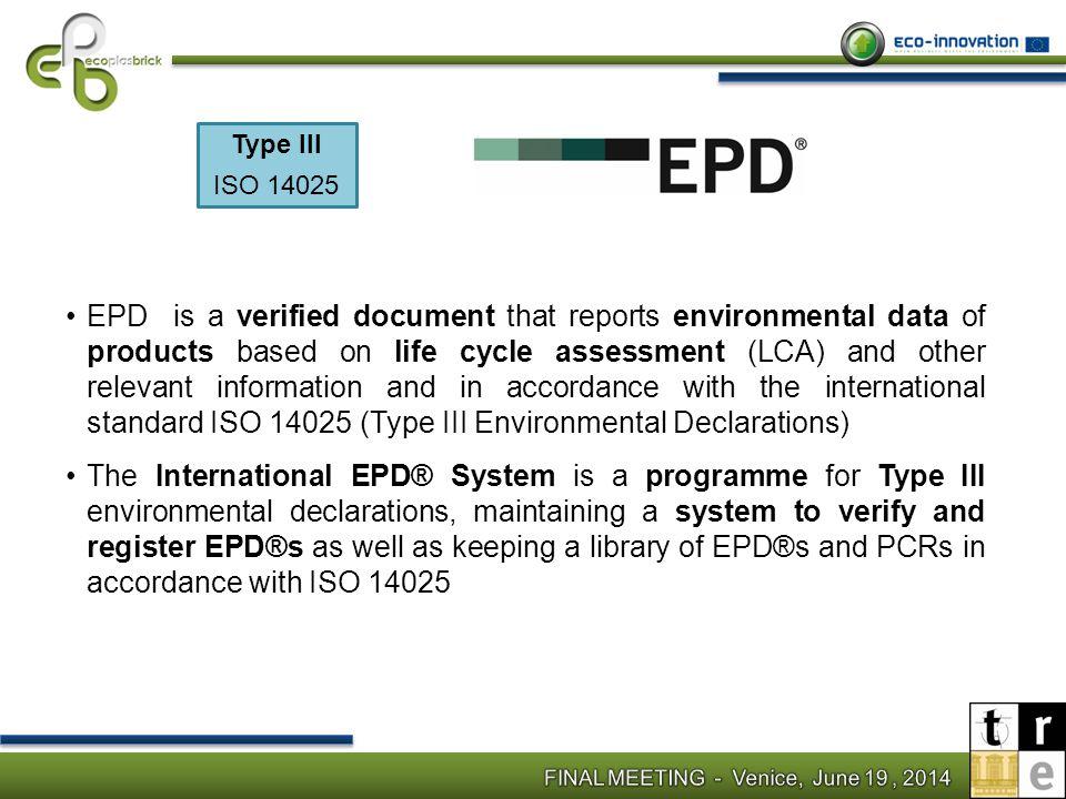 Type III ISO 14025.