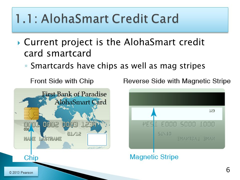 1.1: AlohaSmart Credit Card