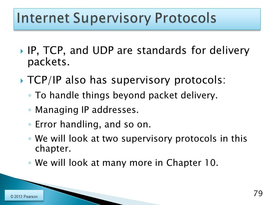 Internet Supervisory Protocols