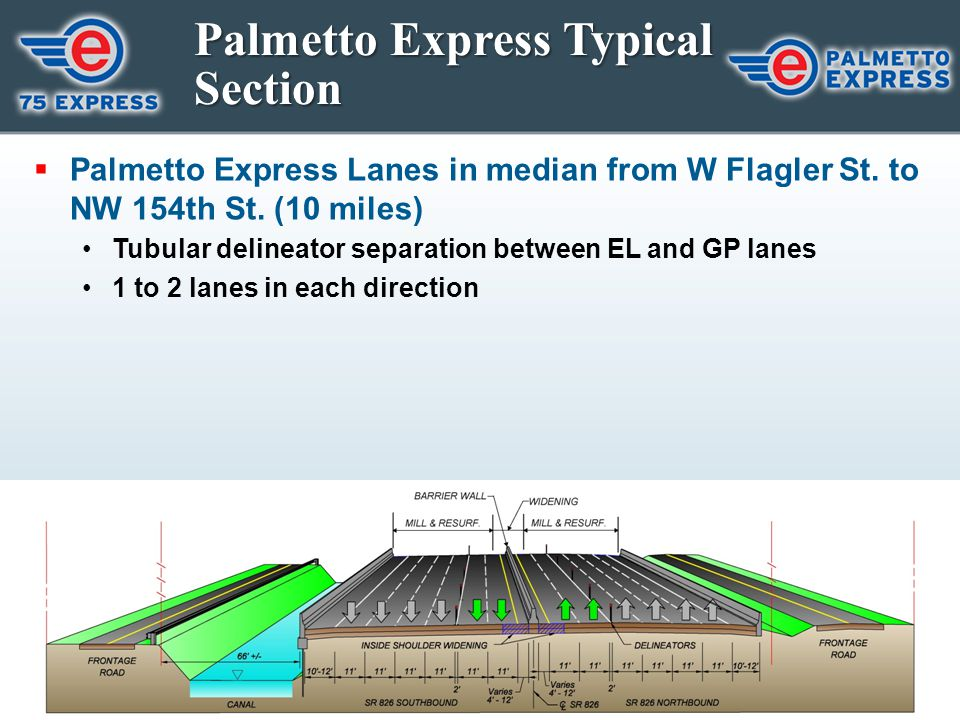 Palmetto Express Typical Section