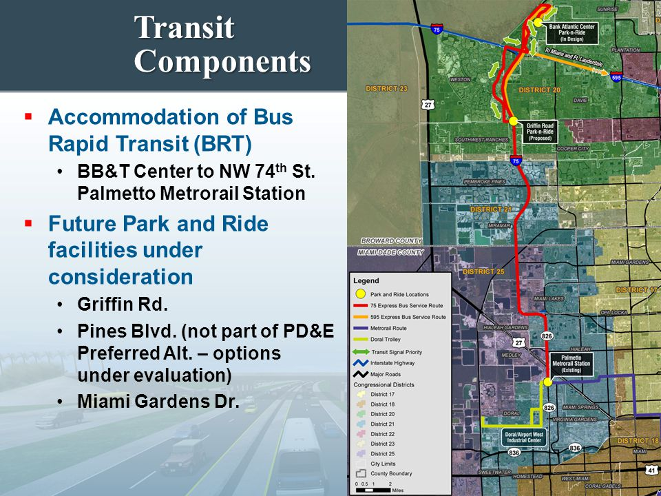 Transit Components Accommodation of Bus Rapid Transit (BRT)