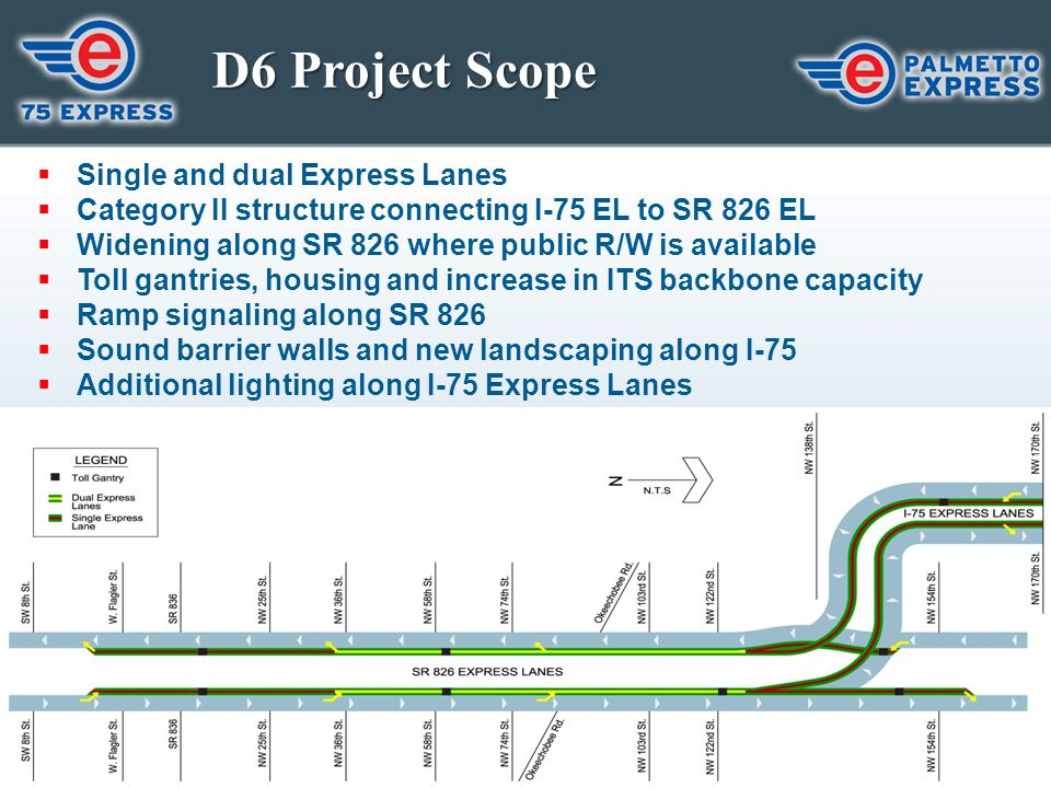 D6 Project Scope Single and dual Express Lanes
