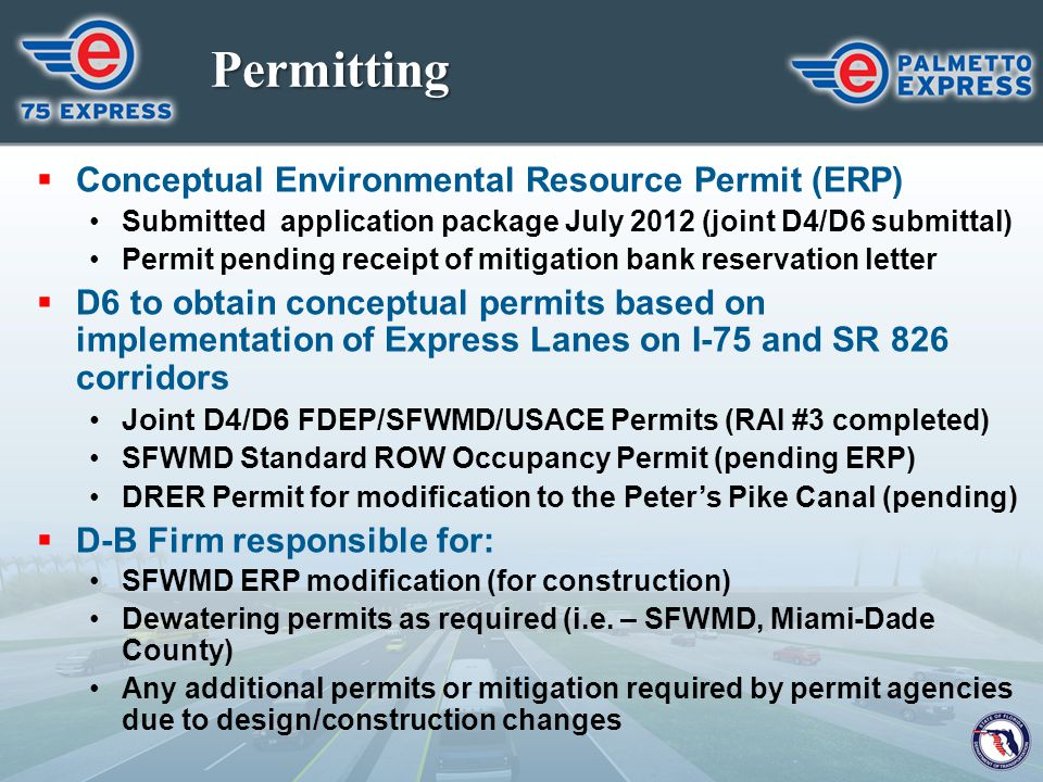 Permitting Conceptual Environmental Resource Permit (ERP)