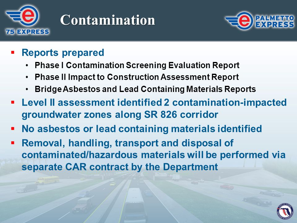 Contamination Reports prepared