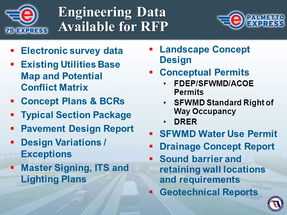 Engineering Data Available for RFP