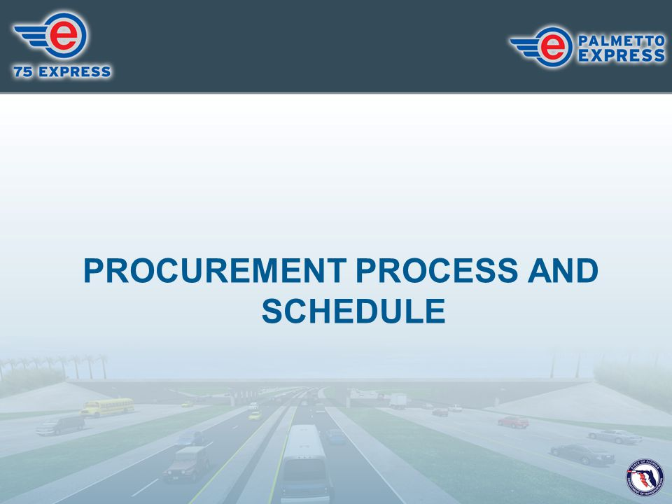 PROCUREMENT PROCESS AND SCHEDULE