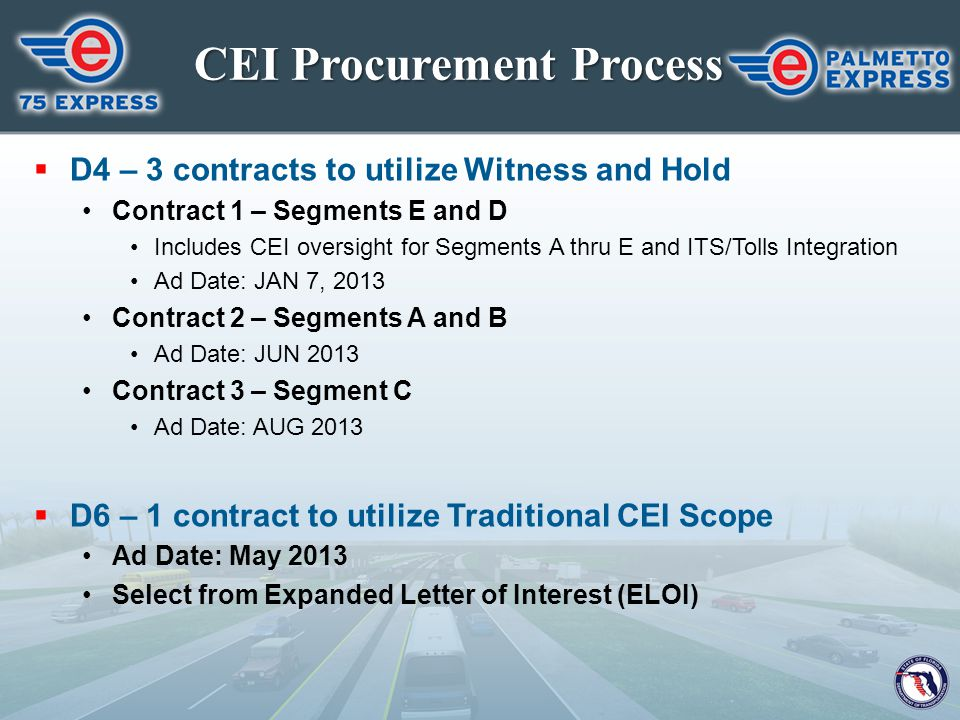 CEI Procurement Process