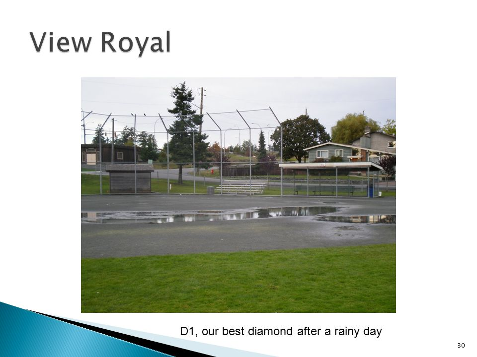 View Royal D1, our best diamond after a rainy day