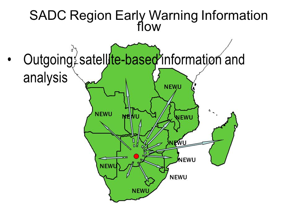 SADC Region Early Warning Information flow