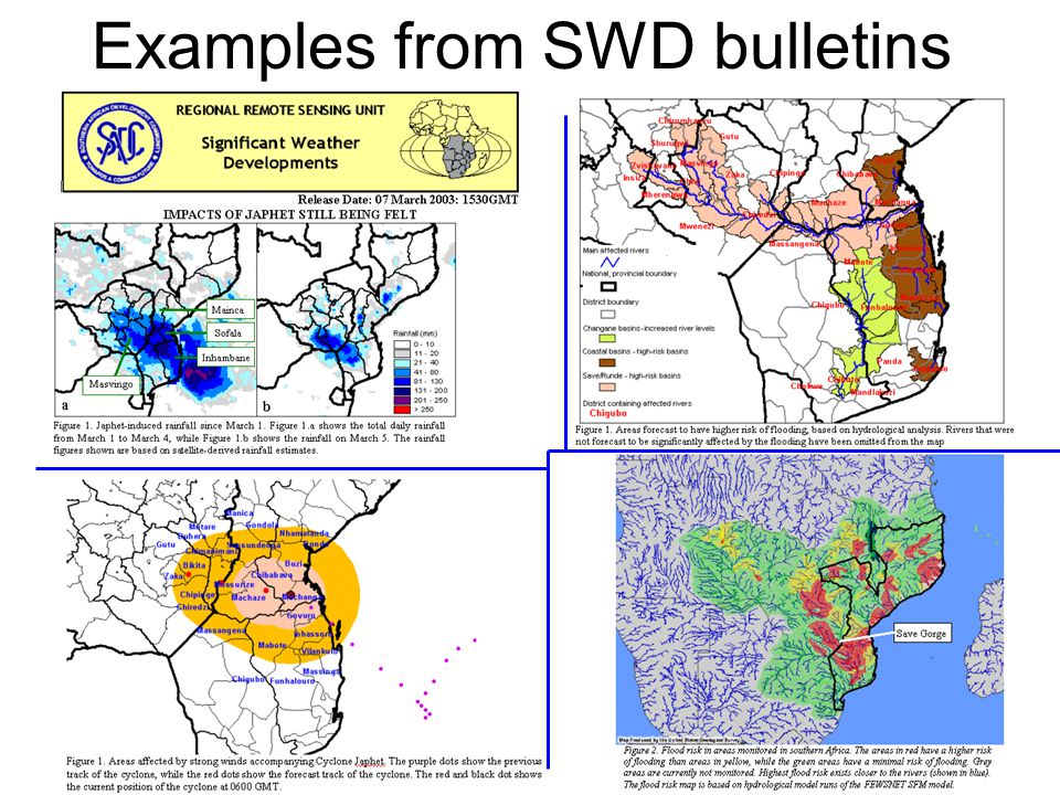 Examples from SWD bulletins