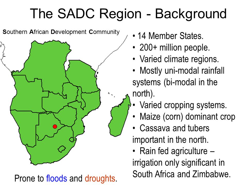 The SADC Region - Background