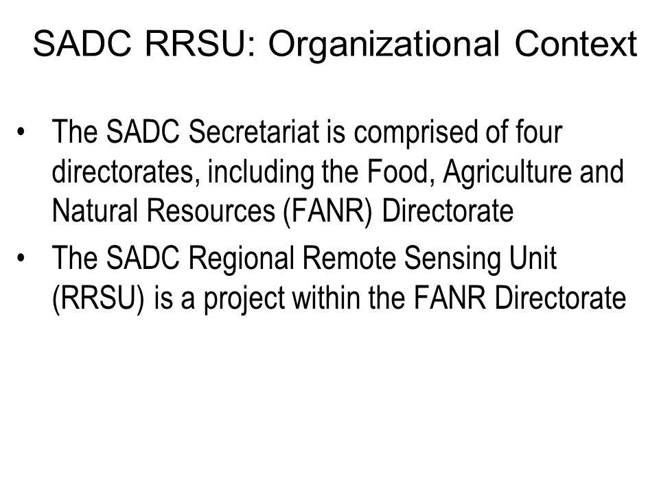 SADC RRSU: Organizational Context