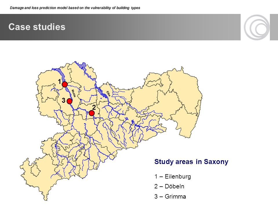 Case studies 1 3 2 Study areas in Saxony 1 – Eilenburg 2 – Döbeln