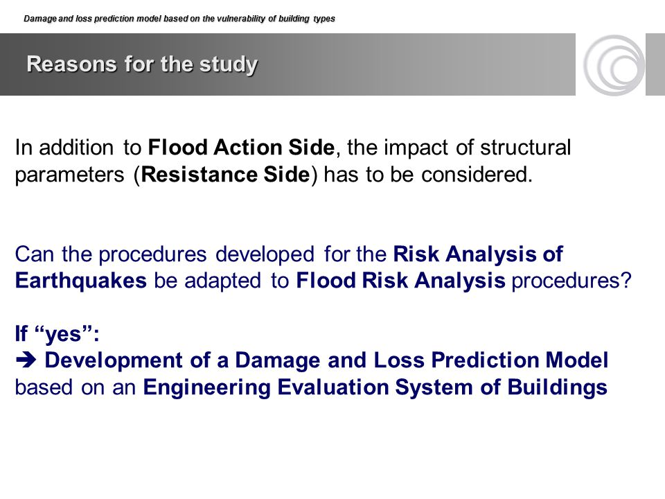 Damage and loss prediction model based on the vulnerability of building types