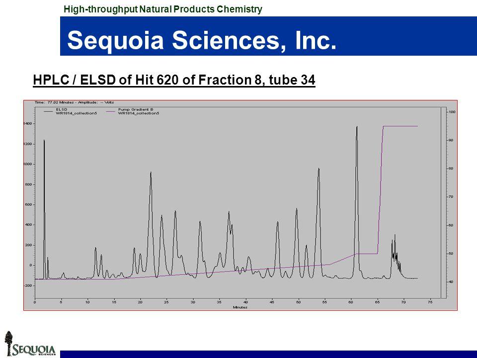 Sequoia Sciences, Inc. HPLC / ELSD of Hit 620 of Fraction 8, tube 34