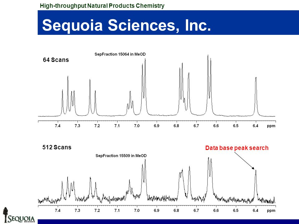Sequoia Sciences, Inc. High-throughput Natural Products Chemistry