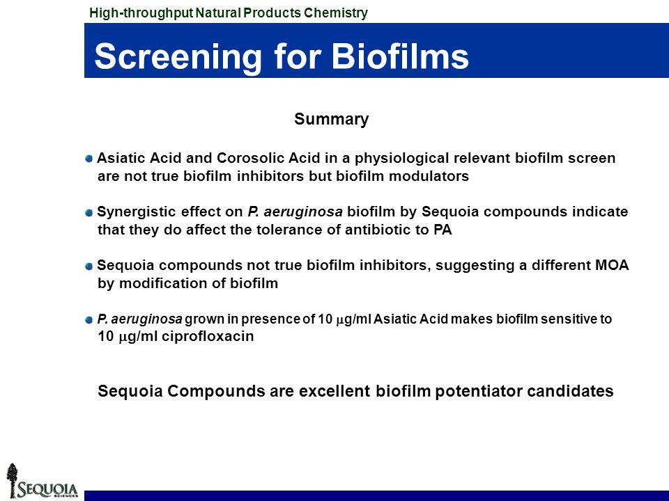 Screening for Biofilms