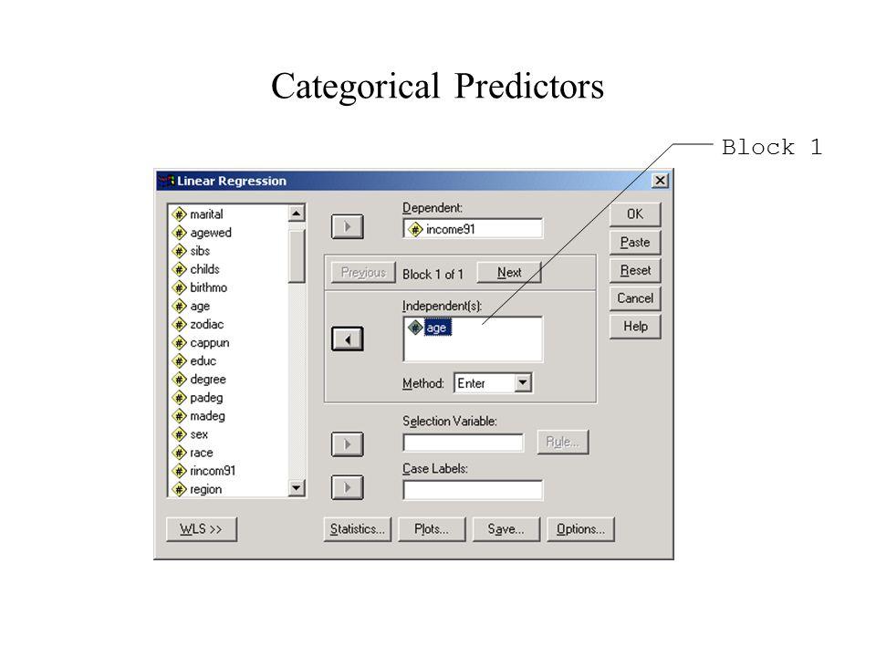 Categorical Predictors