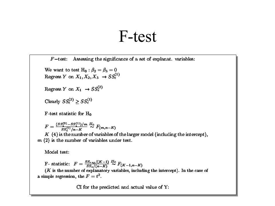 F-test