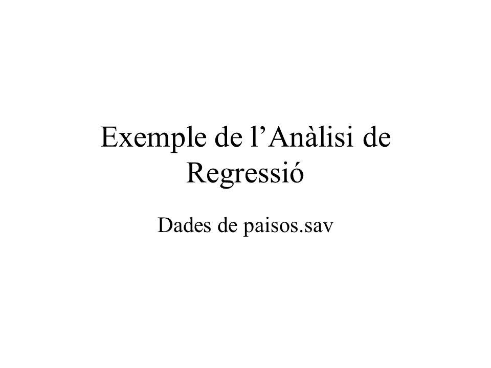 Exemple de l'Anàlisi de Regressió
