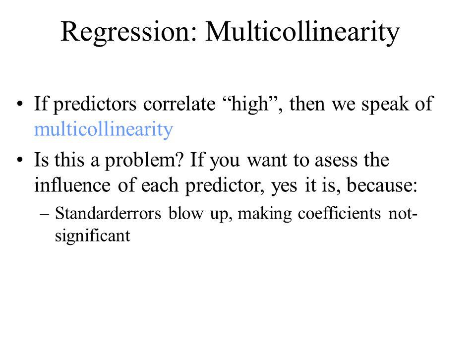 Regression: Multicollinearity